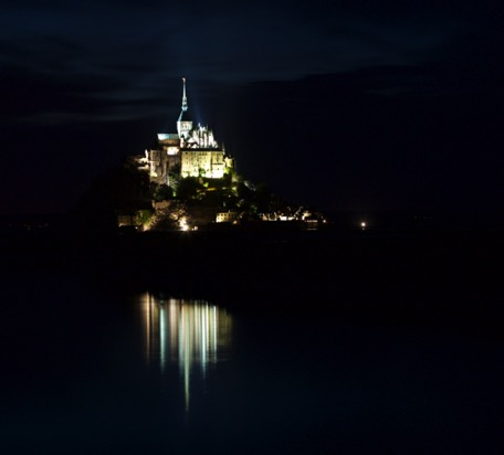 Mont Saint Michel by night