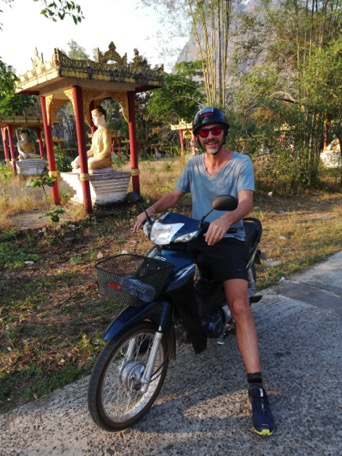 we rent a motorbike to explore the surroundings