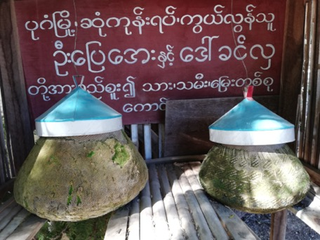 all over Myanmar we see clay pots - public drinking-water