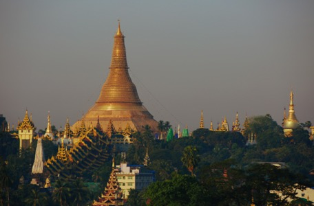 Swedagon Pagoda in the morning