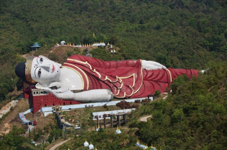 they say, it's the biggest reclining Buddha of the world