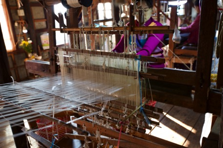... before we have a look at the weaving center