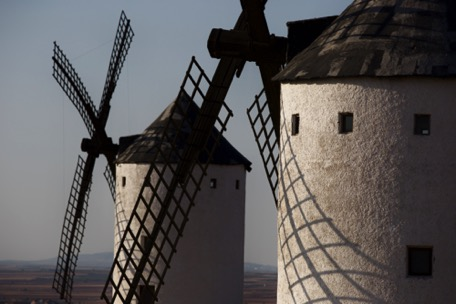 For Don Quijote's windmills we let the sea behind us