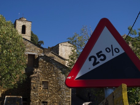 ... with very steep and narrow roads :-o